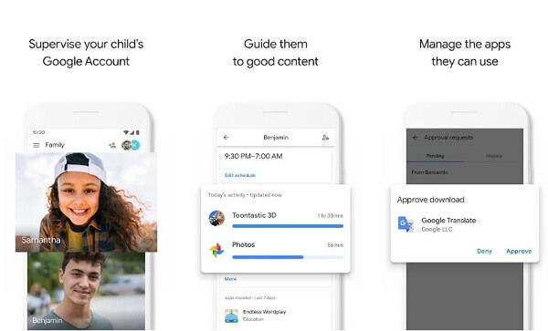 google family link: parental control google chrome android