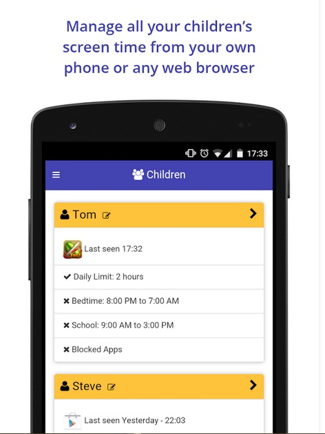 parental controls android - SCREENTIME