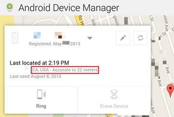 encontrar um celular Android perdido