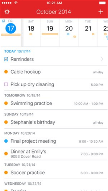 The Best Family Calendar Apps for iPhone of 2019-Fantastical 2
