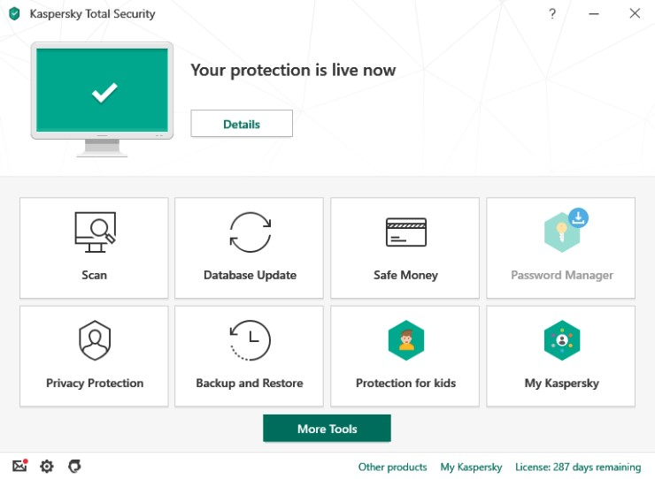 parental control device - kaspersky Total Security