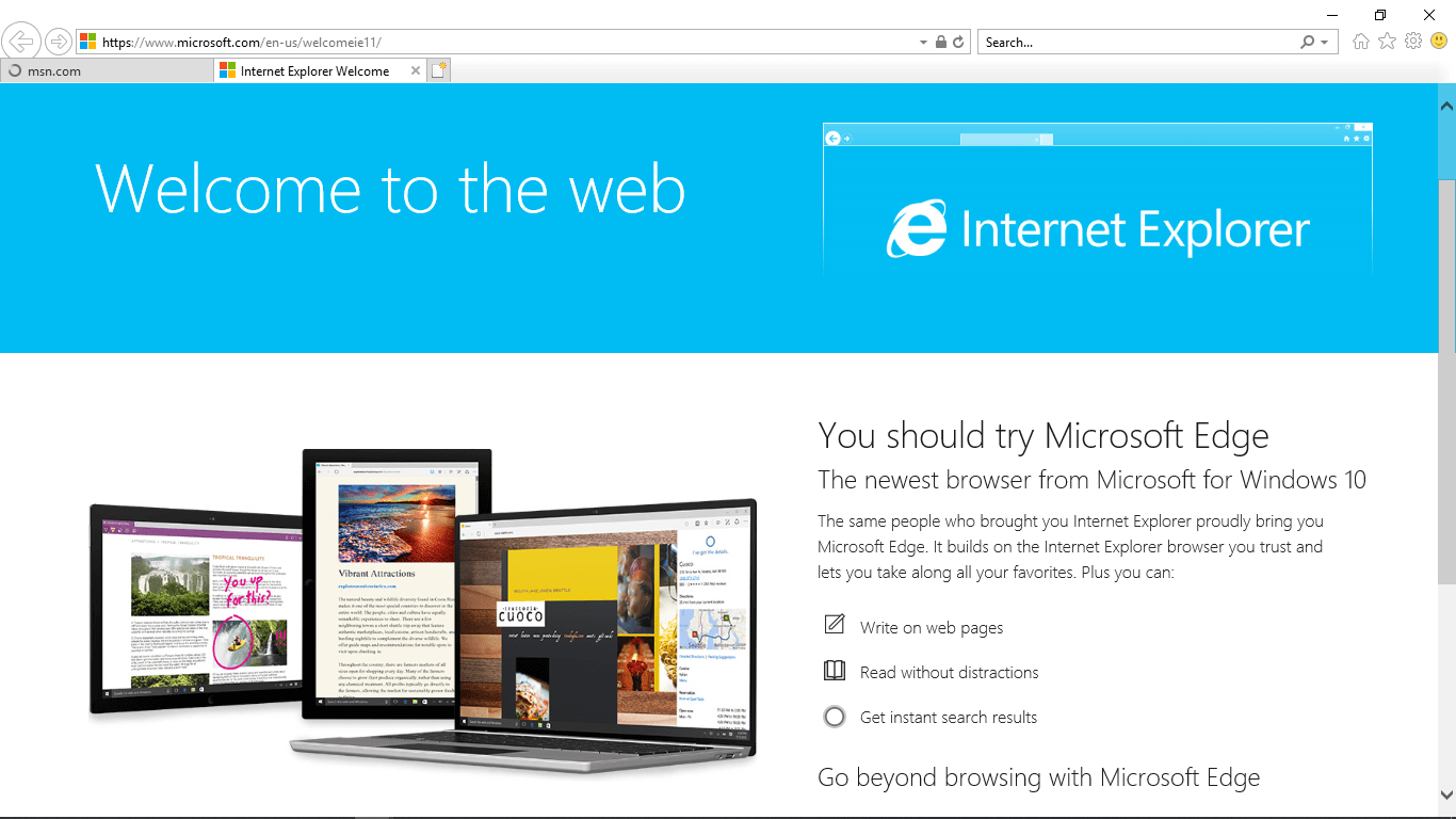 block web pages internet explorer