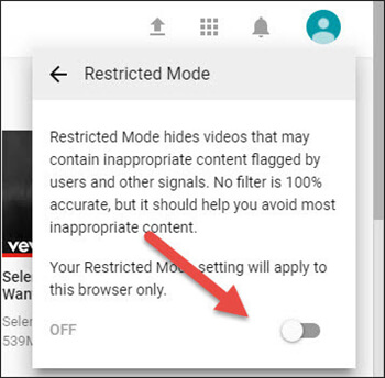 Turn on Restriction mode to Block Adult Content