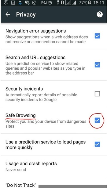 SafeSearch google chrome parental control - block websites chrome android