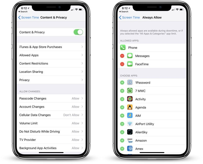 ios 12 parental controls