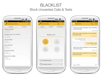 app to block text messages for Android and iPhone - BlackList