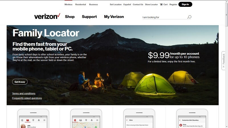 verizon wireless family locator