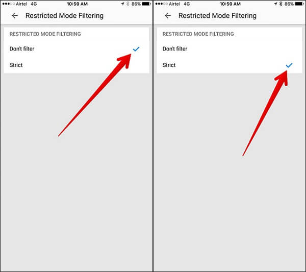 Comment configurer le contrôle parental YouTube sur iPhone