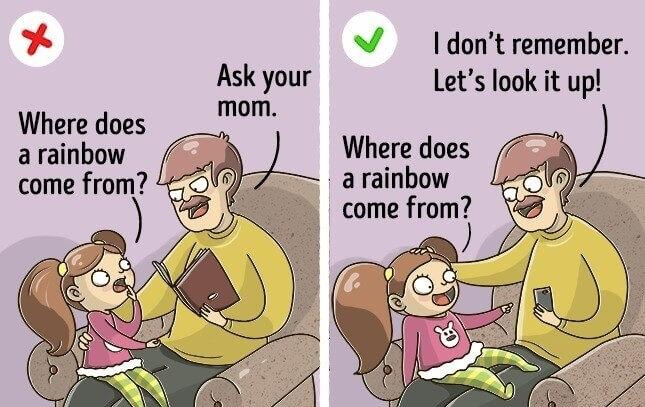 ne jamais dire non aux questions de vos enfants