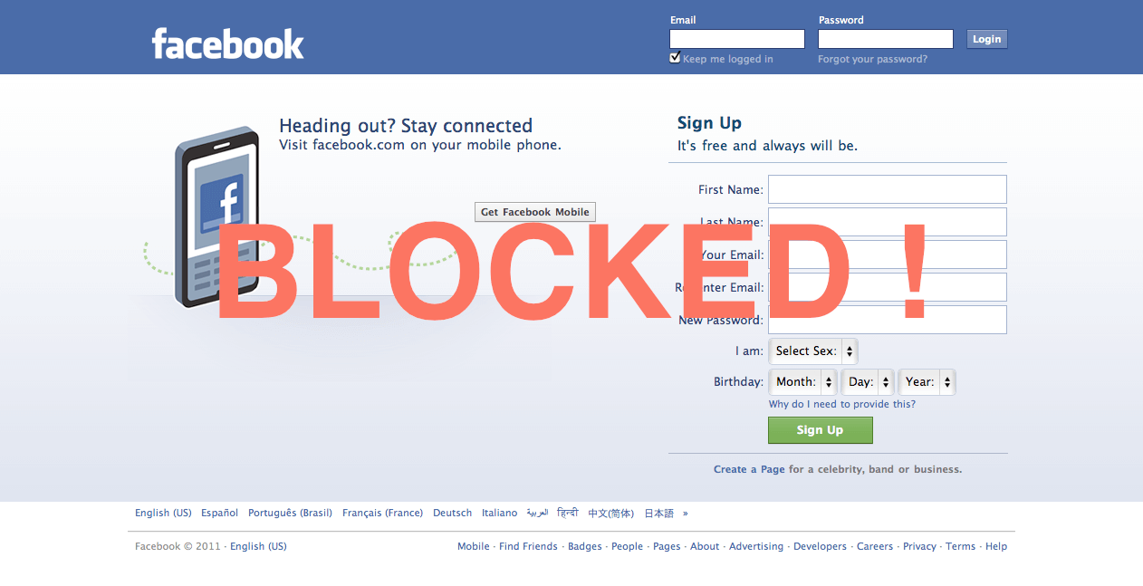 The process of blocking someone on Facebook for the safety of your teen