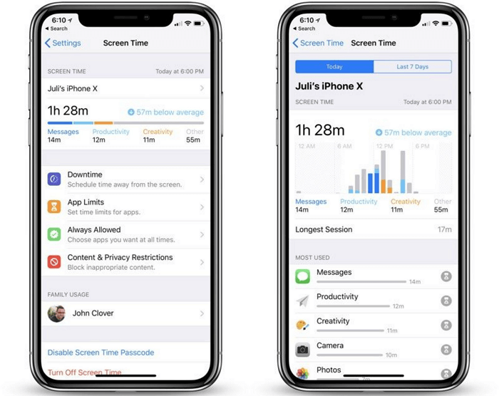 How to use screen time on iOS 12 2.1