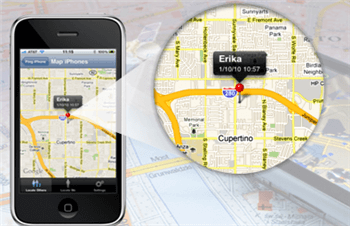 mobile phone tracking map