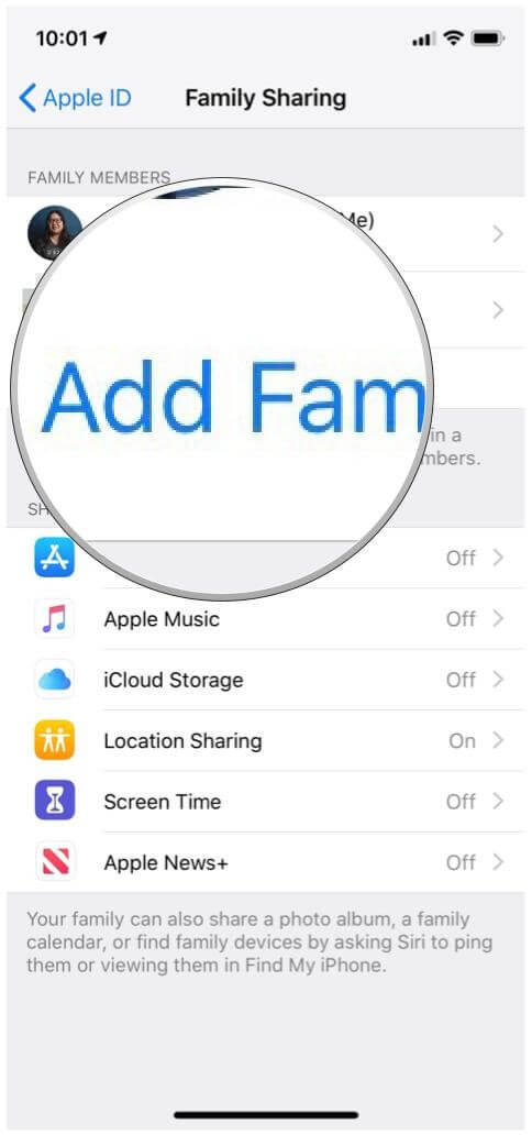 locate family iphone Add-family-member