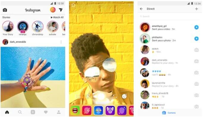 Instagram popular social media app for teenagers and effects