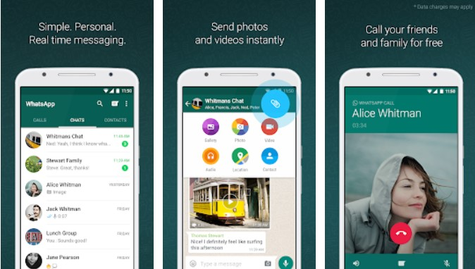 WhatsApp popular social media app for teenagers and effects 6