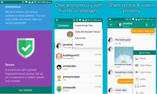 anonymous chat app - Cipher