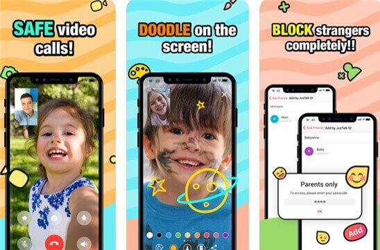 family messaging app: JusTalk Kids