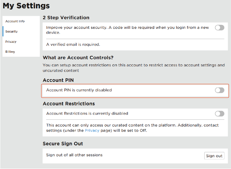 roblox parental control - create an account pin