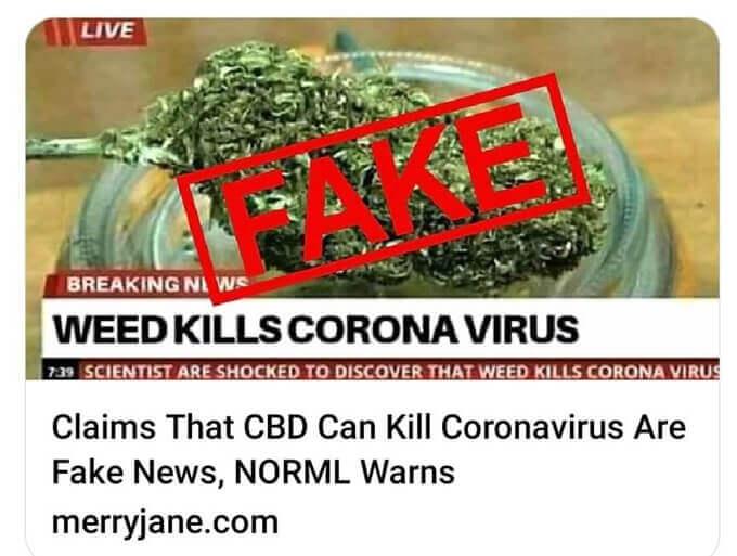 Weed Kill Coronavirus