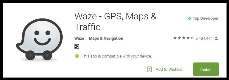 safe driving app - Waze