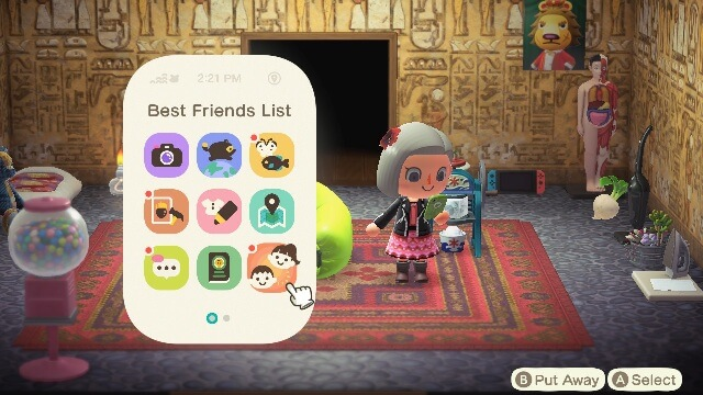 Animal Crossing: New Horizons Communicate with Friends