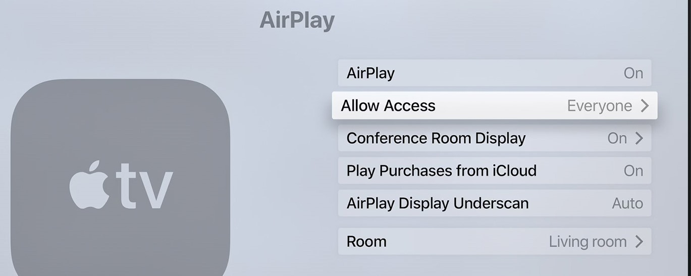 Air Play - allow access