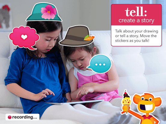 Draw and Tell HD app