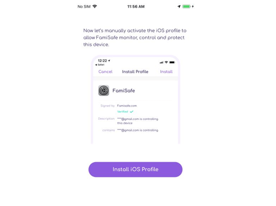 Log in to the app's account