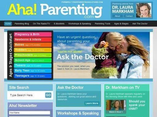 parenting websites for new parents - Aha! Parenting