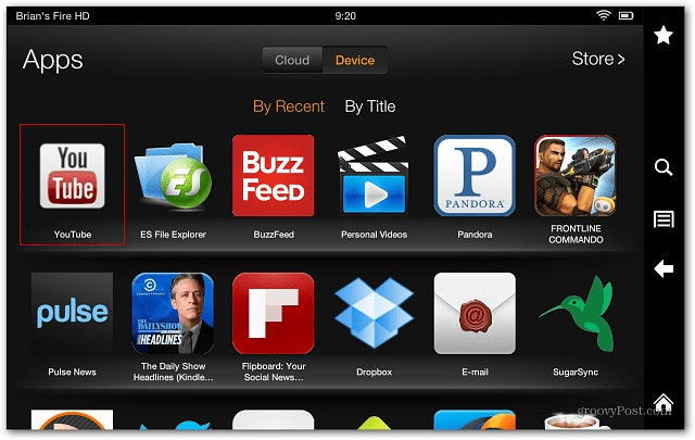 install YouTube on Kindle Fire