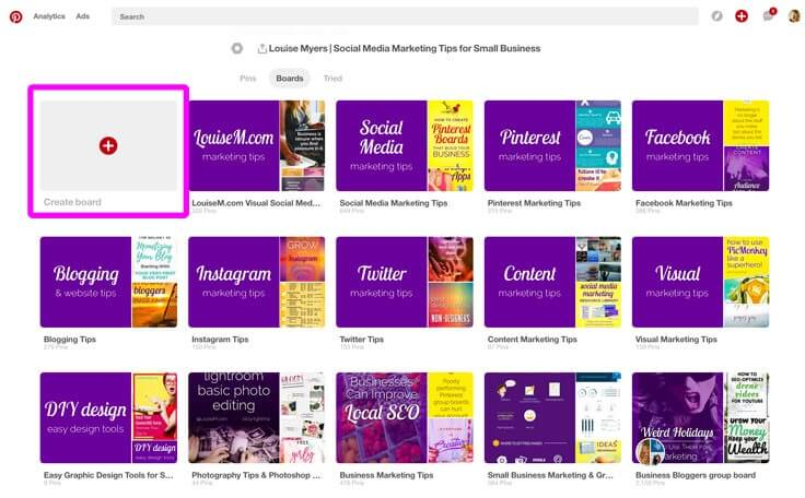 pinterest review - boards