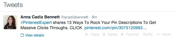 pinterest review - share on Twitter