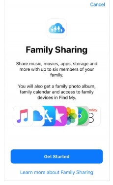 get started with Family Sharing