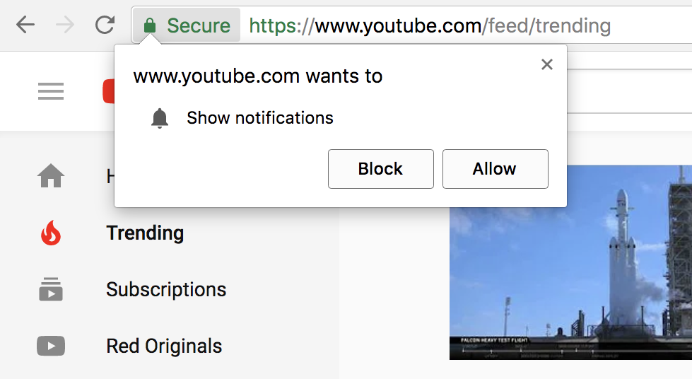 click here and find Google Chrome notification settings