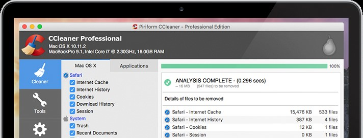 best clean app for mac - ccleaner