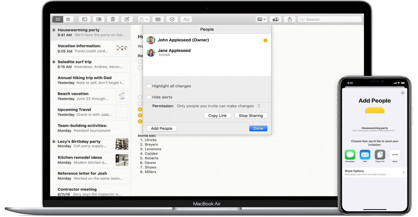 best note taking app for mac - apple notes