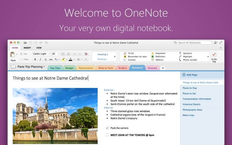 best note taking app for mac - one note