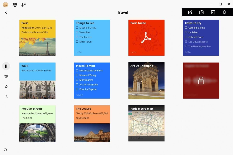 best note taking app for mac - Zoho Notebook