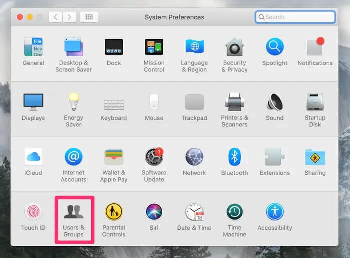 how to create a new user account on mac - select user and group