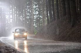 driving in rain safety tips - drive slowly