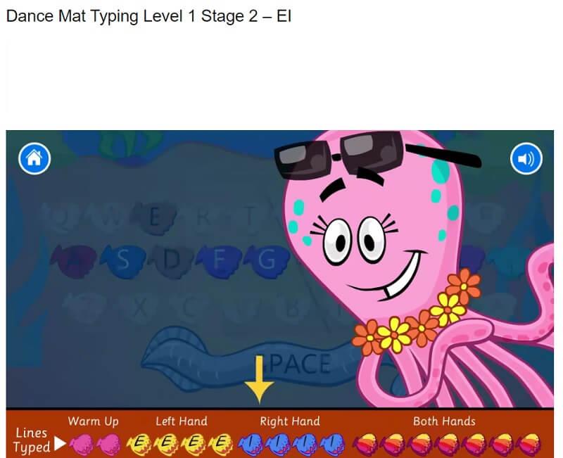 Dance-mat-typing