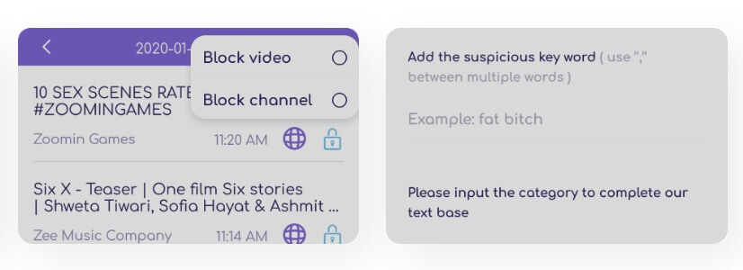 Social Media Text Monitoring