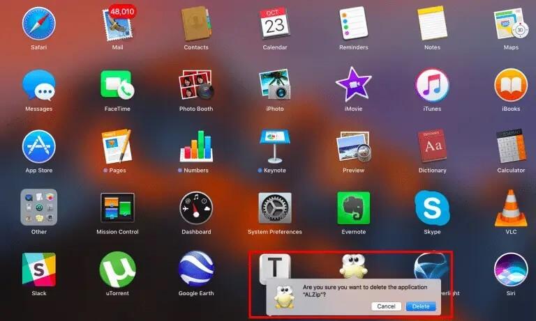 how to uninstall an applicaiton for mac - through launchpad