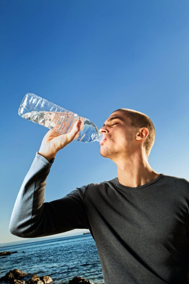 tips for driving across country - drink enough water