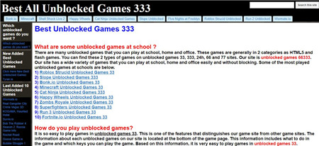 unblocked game sites on google 7