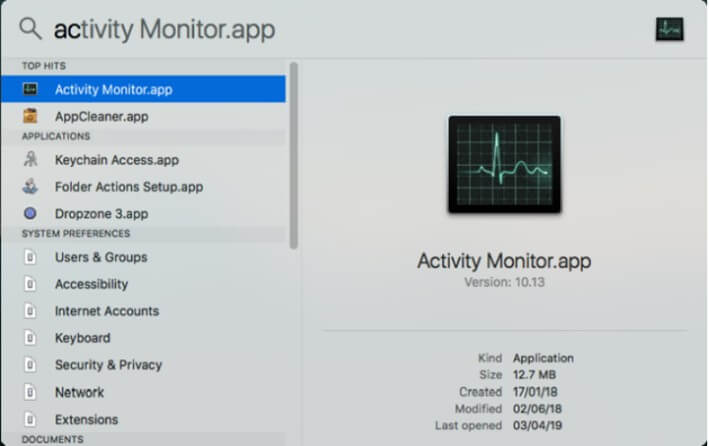 use activity monitor on mac