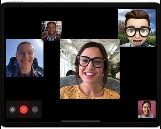 macos mojave face time group