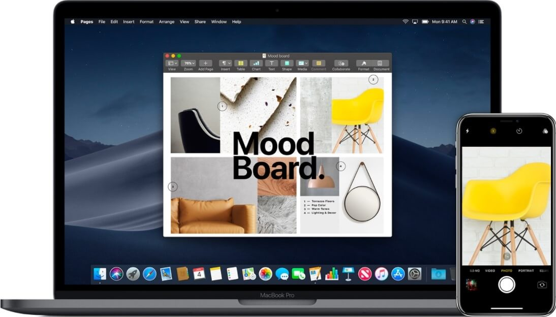 what is macos mojave - cotinuity camera