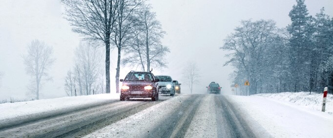 winter driving safety tips - drive smoothly