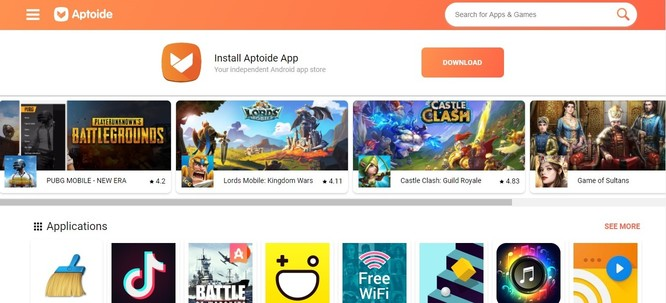 apk download sites - Aptoide